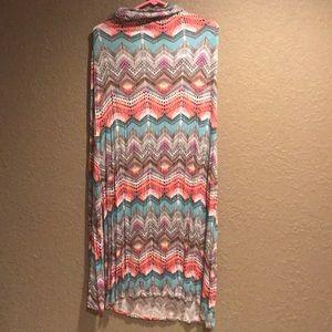 Multicolored Vanity fold over skirt